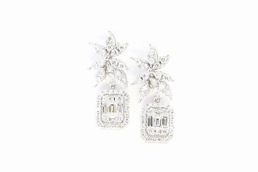 Phoenixjewelry Seven prongs diamond earrings