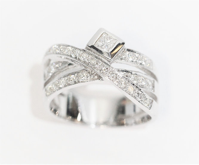 phoenixjewelry Cross diamond ring