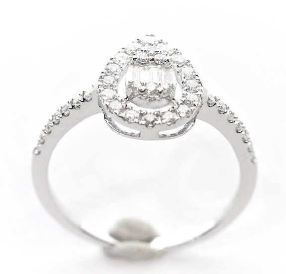 Phoenixjewerly  Pear diamonds ring