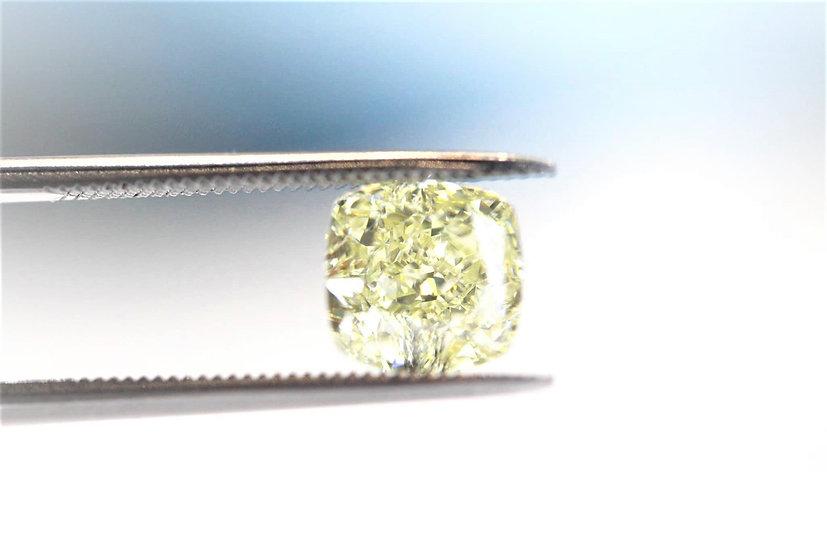 GIA Cushion modified Brilliant Phoenixjewelry  Yellow diamond 2.33 cts.