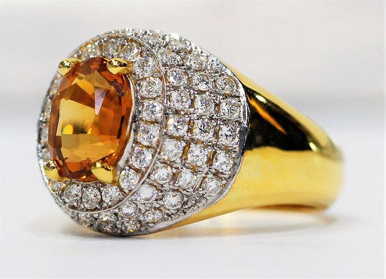 Yellow sapphire Phoenixjewelry diamonds ring