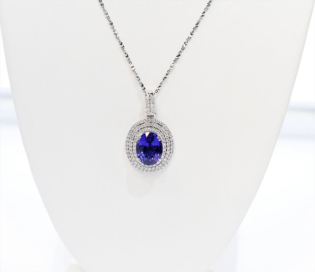 phoenixjewelry Tanzanite diamonds Pendant