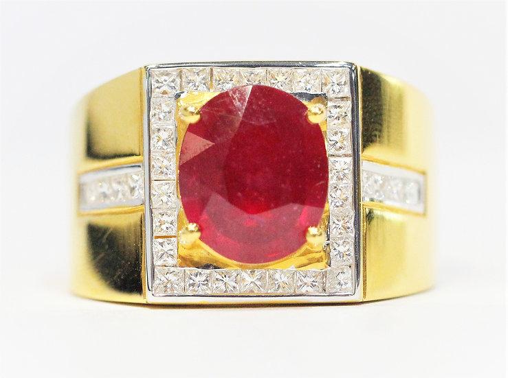 Africa ruby diamond ring