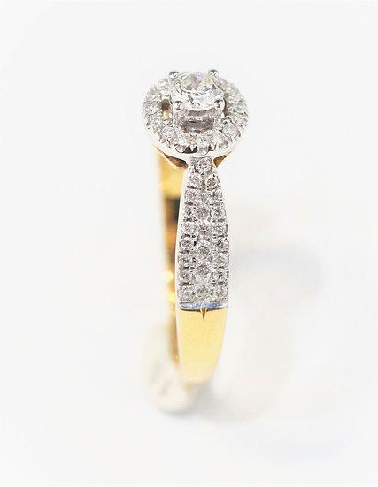 Ribbon diamonds phoenix jewelry  yellow ring