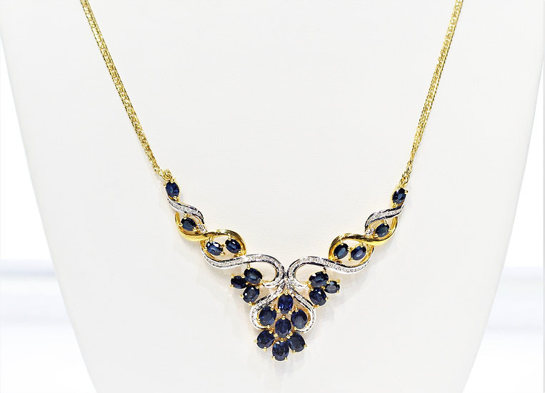 Siam blue sapphire phoenixjewelry necklace