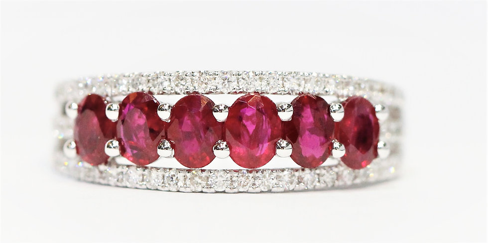 Classic- shape ruby Phoenixjewelry  diamond  ring