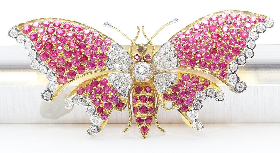 phoenixjewelry Butterfly ruby brooch