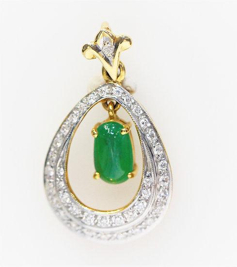 phoenixjewelry Burmese jade pendant