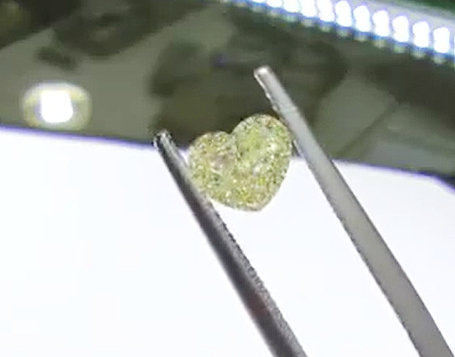 GIA heart-shape Phoenixjewelry fancy diamond 1.01 cts.