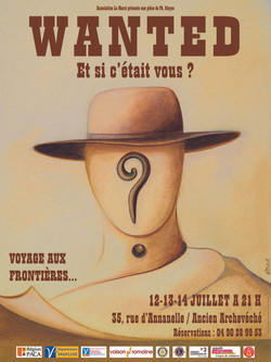 """""""WANTED"""" AFFICHE"""