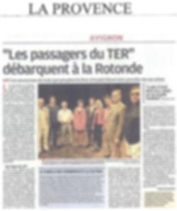 Les Passagers du TER Festival d'Avignon
