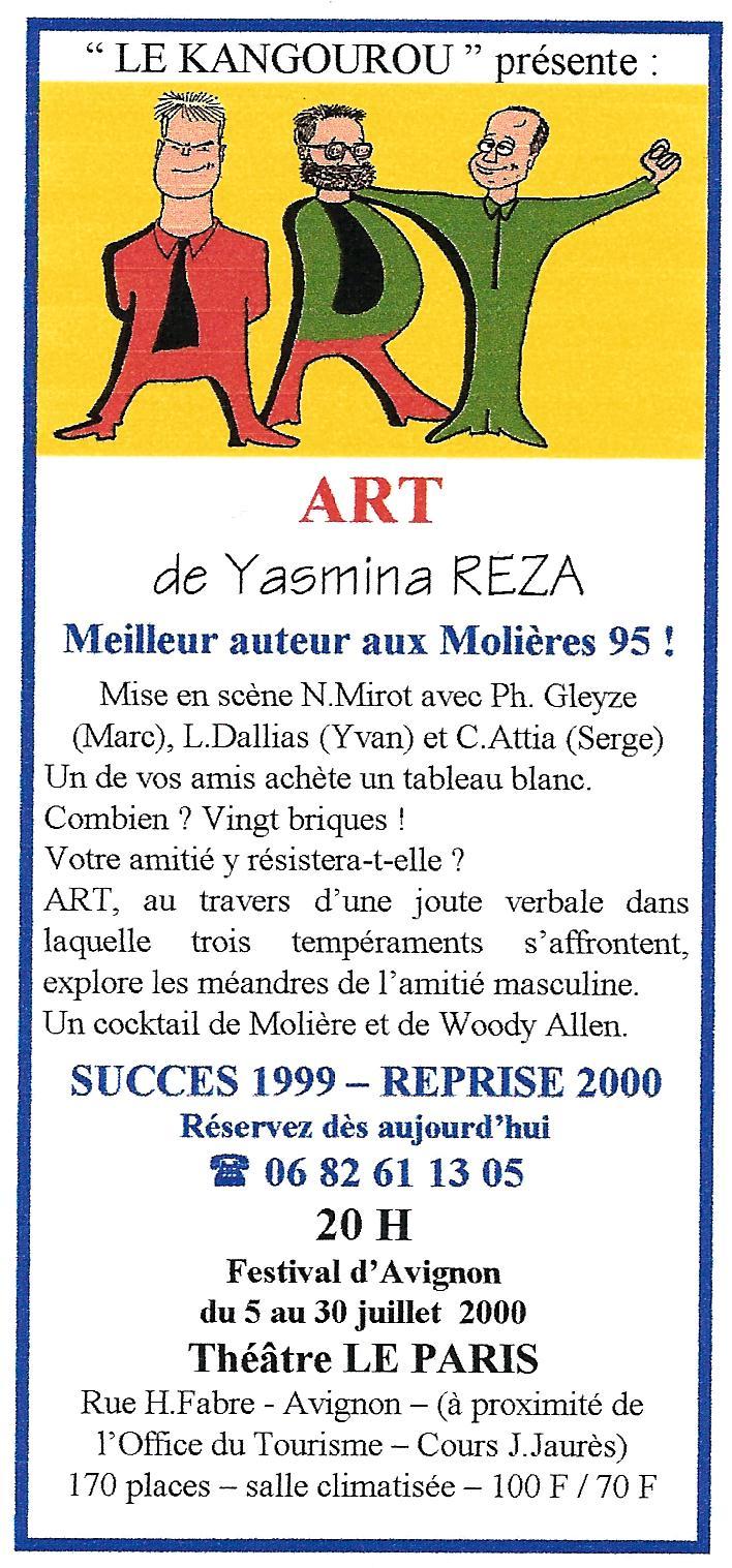 """ART"" de Yasmina REZA"