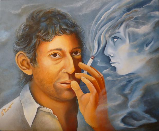Huile sur toile de Nicole Mirot  46 cm x 38 cm