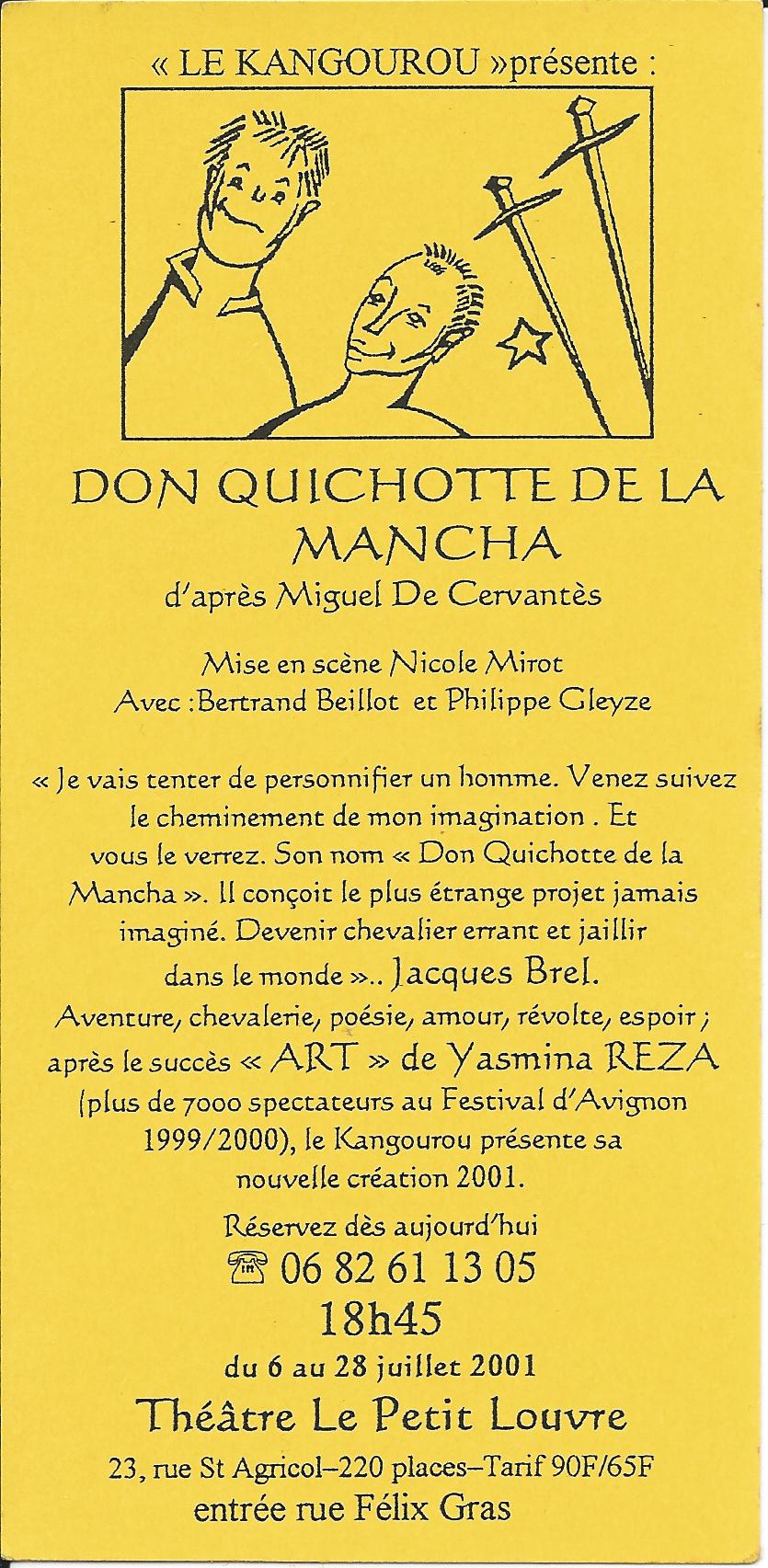 """DON QUICHOTTE DE LA MANCHA"""