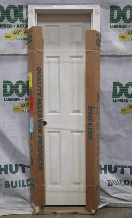 Brosco 6 Panel Interior Prehung Molded Hollow Core Single Door - EC5-D