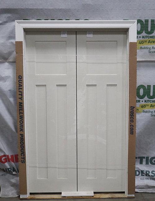 Brosco Craftsman Smooth Interior Prehung Molded Hollow Core Double Door - EC6-I