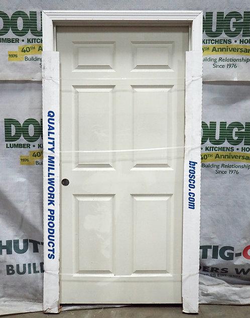 Brosco 6 Panel Interior Prehung Molded Hollow Core Single Door - EC5-J