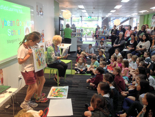 Susanne Gervay officially launches Margaret Roc's new picture book Jellybean Goes To School