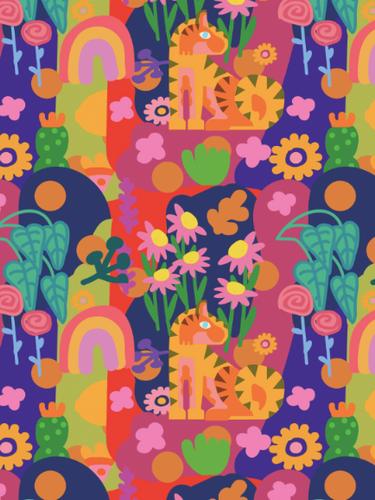 Floral Tiger Kids