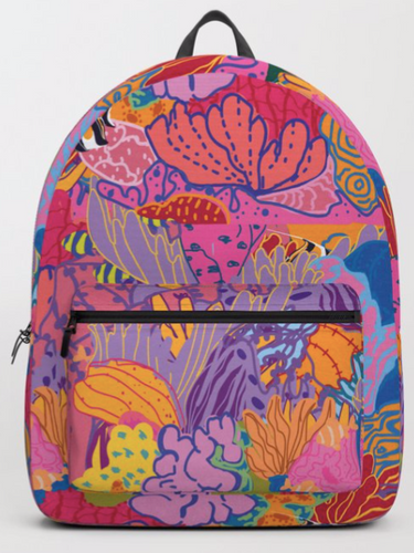 floral coral bag