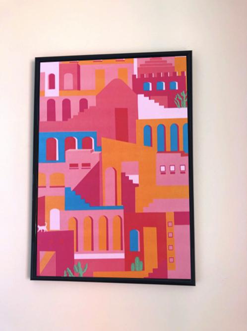 Tiny Town A3 Print