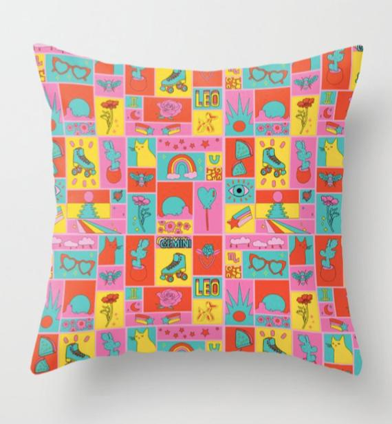 fun collage pillow