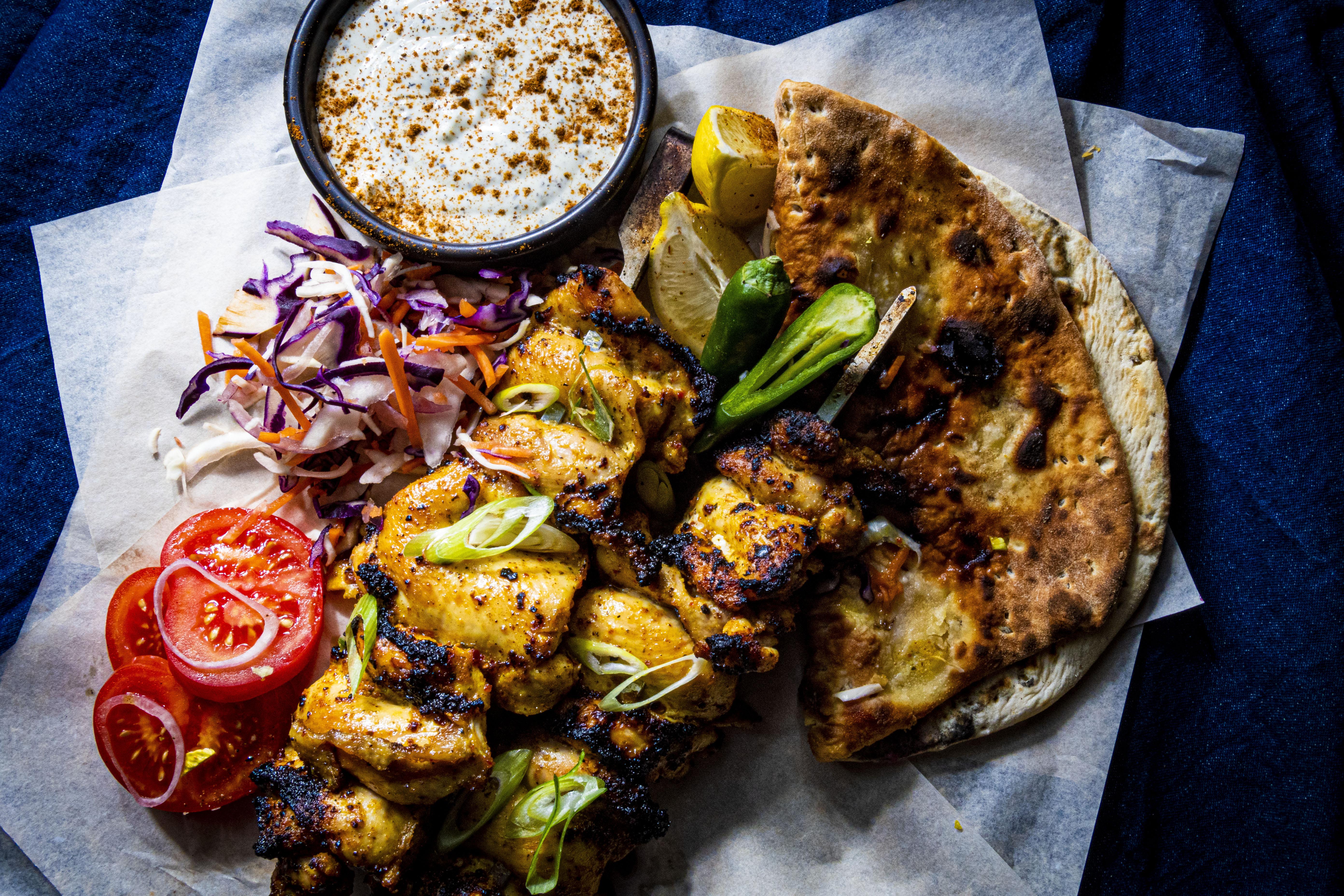 Chicken Kebab Background Homepge