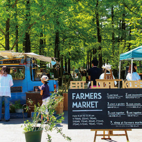 Take a walk in the farmers market