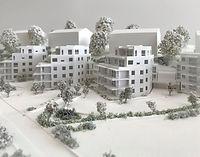 Arkitektmodell i 1:200 skala