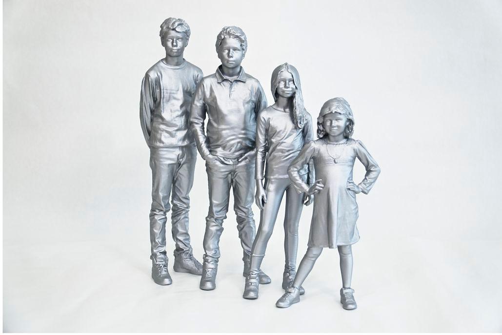 3D print i SLA teknikk, metall lignende etterbehandling.