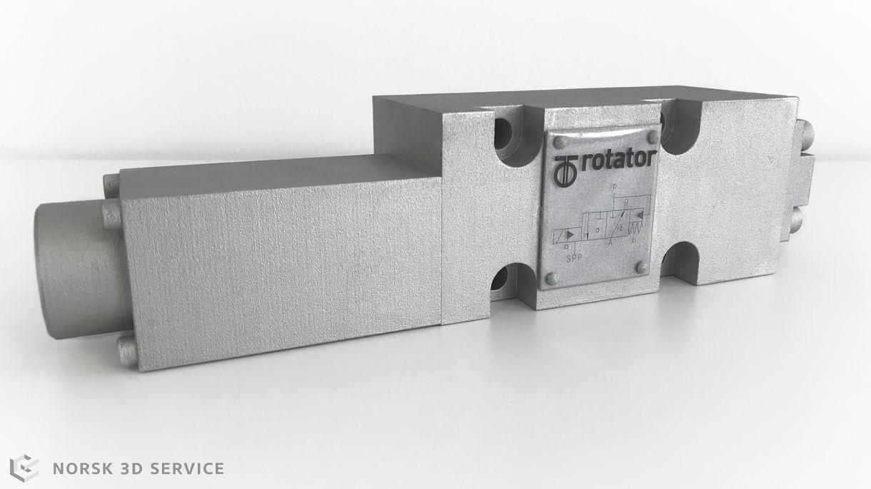 3D printet del for Oceaneering Rotator