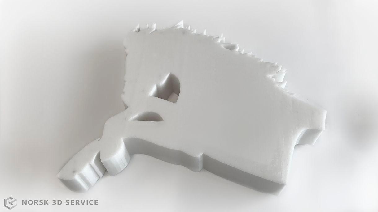 3D print i FDM teknikk, ABS materiale