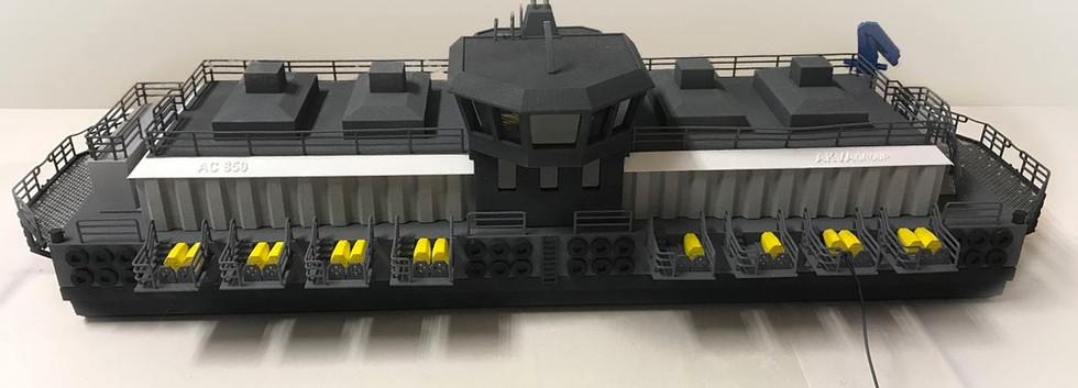 3D printet modell av båt