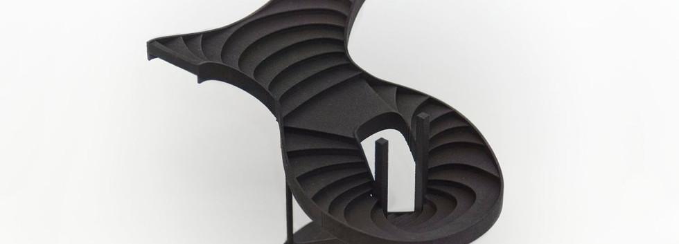 3D printet modell av trapp