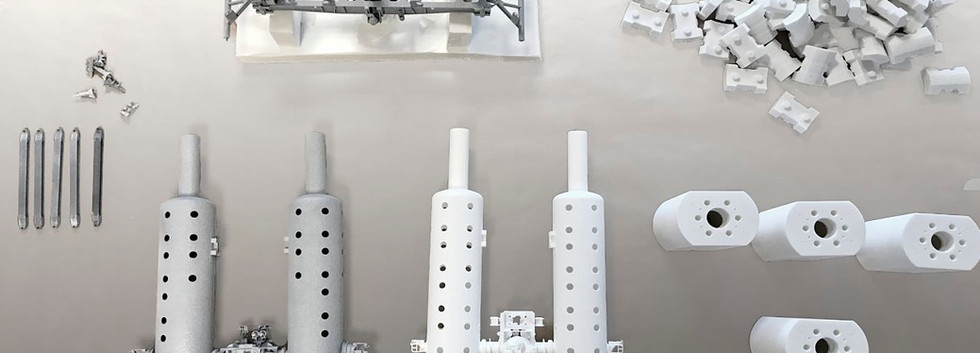 Maskin modell printet i deler