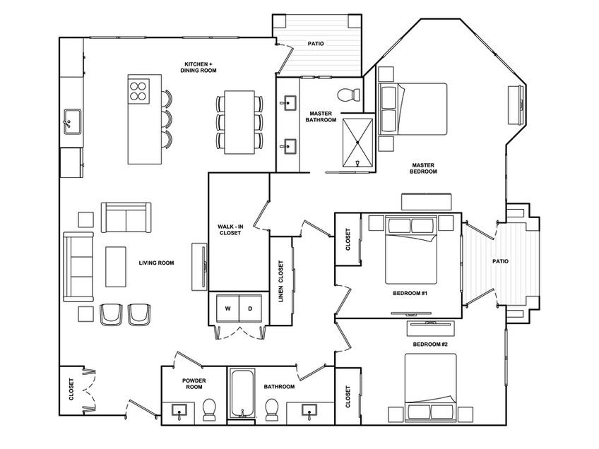 C1- 1,668 sq ft