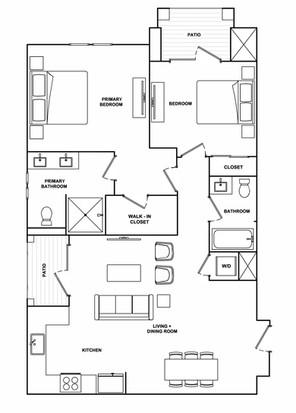 B5- 1,099 sq ft