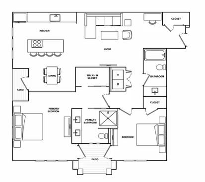 B6- 1,250 sq ft