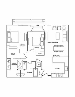 B3- 1,117 sq ft