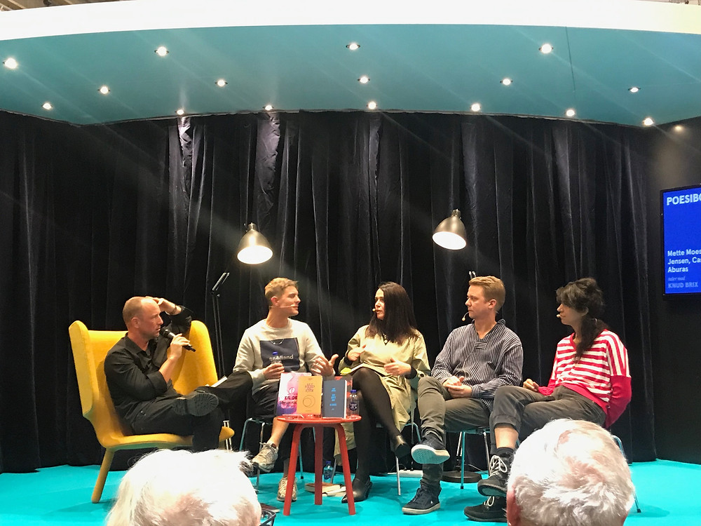 Fra venstre: Knud Brix, Casper Erik, Mette Moestrup, Rene Jean Jensen og Lone Aburas
