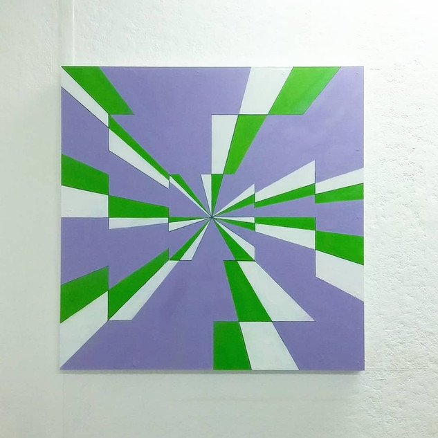 Purple/White/Green - SOLD