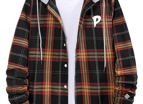 """Phresh P"" Plaided Shirt w/ Hoodie"