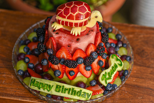 Fruit Carving Cake