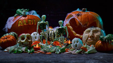 Aldi's Seasonal Fruit & Vegetable Carvings for Halloween - By Fruitima