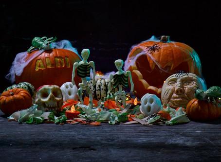 Aldi's Seasonal Fruit & Vegetable Carvings for Halloween - By Fruitima