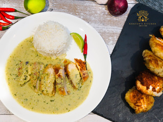 Fried Chicken with Thai Curry Sauce
