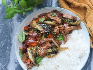 Spicy Stir Fried Beef with Basil