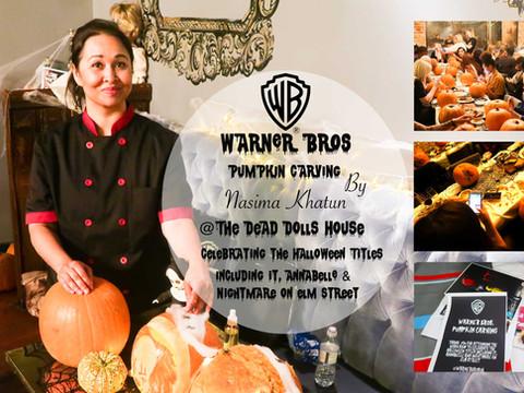 Warner Bros Pumpkin Carving Party October 2018