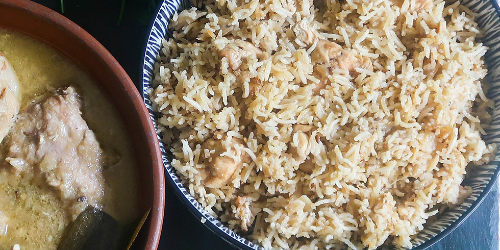 Live Cooking & Convo - Easy Chicken/Veg Biryani in Rice Cooker