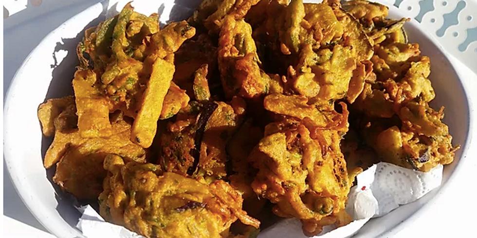 Live Cooking & Convo - Pakora & Chilli Chutney